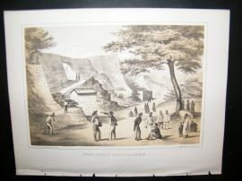 Japan Perry Expedition 1856 Antique Print. Castle Of Na-Ga-Gus-Ko, Lew Chew